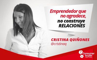 Esto si o si necesitas para emprender: Cristina Quiñones