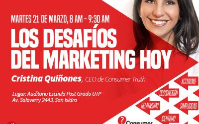 """Conferencia """"Los Desafíos del Marketing hoy: Las 6 Tendencias Clave a atender"""""""