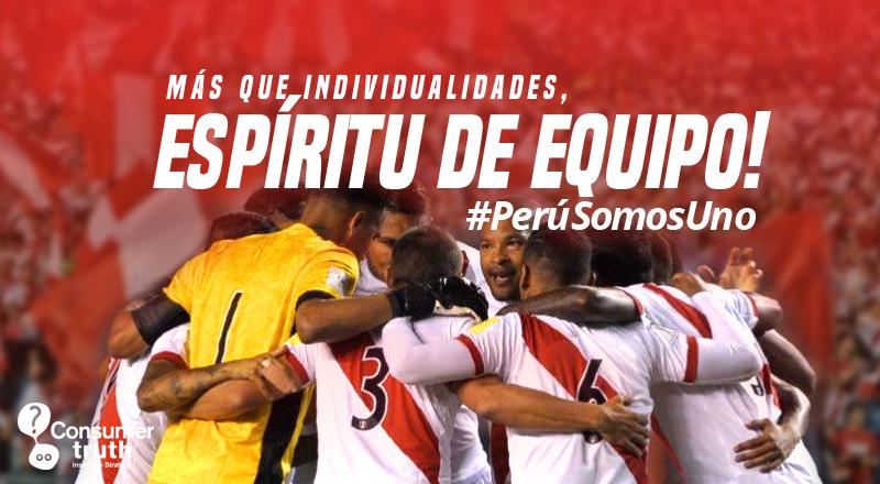 #PerúSomosUno. Más que individualidades, espíritu de equipo!