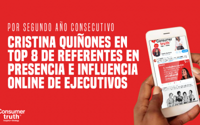 Cristina Quiñones en Top 8 de Referentes en Presencia e Influencia Online de Ejecutivos