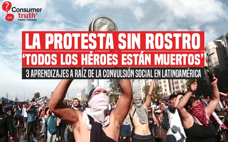 """La protesta sin rostro: """"Todos los héroes están muertos"""""""