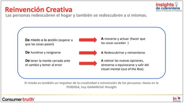 insights cuarentena reinvencion creativa